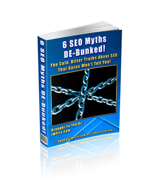 Product picture 6 SEO Myths De-bunked - with PLR