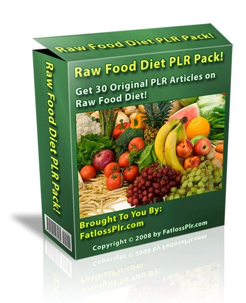 Product picture 30 Private Label Articles on Raw Food Diet - with PLR