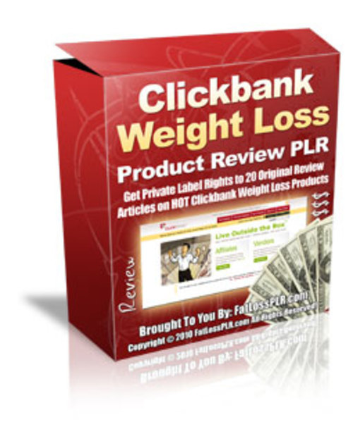 Product picture 20 Clickbank Weight Loss Product Reviews - with PLR