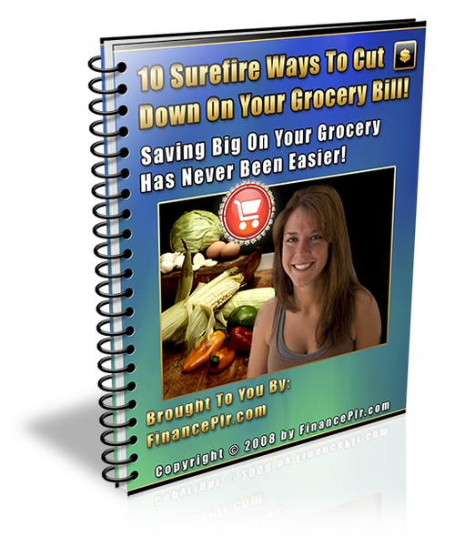 Product picture 10 Surefire Ways To Cut Down On Your Grocery Bill - with PLR