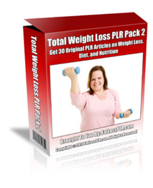 Product picture Total Weight Loss Article Pack 2 - with PLR