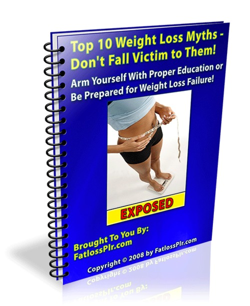 Product picture Top 10 Weight Loss Myths: Dont Fall Victim to Them-with PLR